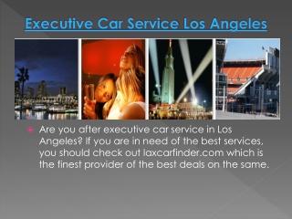Executive Car Service Los Angeles