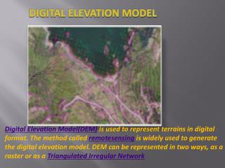 digital elevation model(dem)