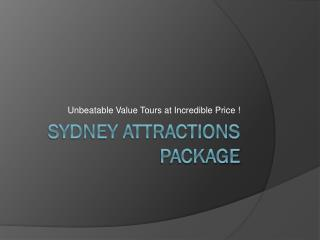 sydney attraction tour package