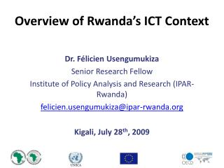 Overview of Rwanda's ICT Context