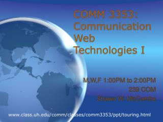 COMM 3353: Communication Web Technologies I