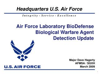 Air Force Laboratory BioDefense Biological Warfare Agent Detection Update