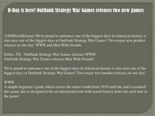 D-Day is here! Outflank Strategy War Games releases two new