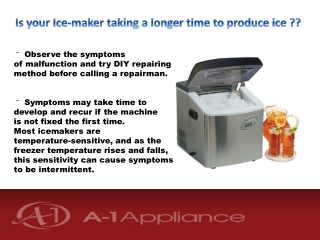 Common Ice-maker Problems and solutions