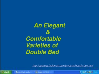 Elegant And Comfortable Varieties of Double Bed