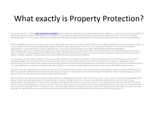 asset protection specialist