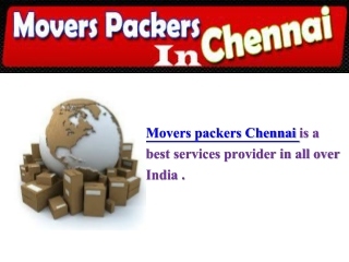 movers packers in chennai