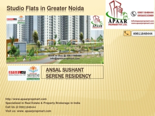New Booking @@ 09811848444 ## Ansal Sushant Serene Residency