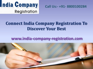 Connect India Company Registration To Discover Your Best