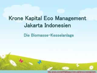 Krone Kapital Eco Management Jakarta Indonesien