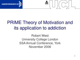 PRIME Theory of Motivation and its application to addiction