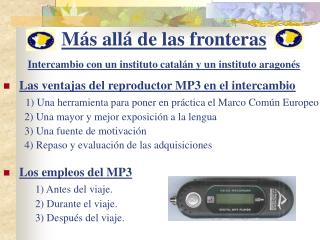 M s all  de las fronteras  Intercambio con un instituto catal n y un instituto aragon s