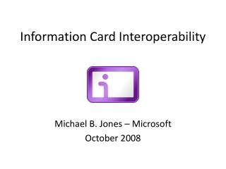Information Card Interoperability