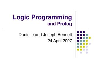 Logic Programming and Prolog