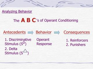 Analyzing Behavior