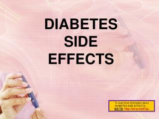 diabetes side effects