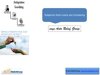 Subprime Auto Loans are Increasing