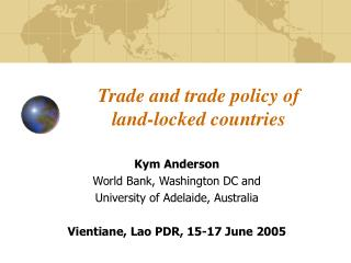 Trade and trade policy of land-locked countries