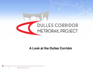 A Look at the Dulles Corridor