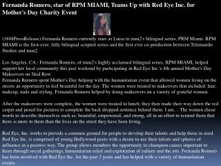 fernanda romero, star of rpm miami, teams up with red eye in