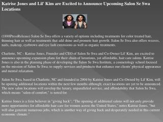katrise jones and lil' kim are excited to announce upcoming