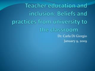 Teacher education and inclusion: Beliefs and practices from ...