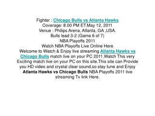 watch nba game 6 atlanta hawks vs chicago bulls live streami