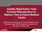 Cardiac Reperfusion Team Protocol Reduces Door-to-Balloon Time at ...