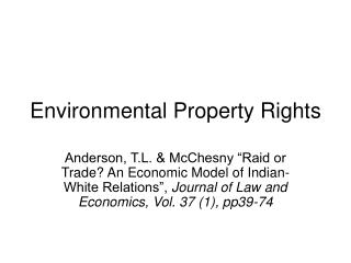 Environmental Property Rights
