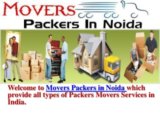 Movers Packers in Noida