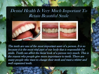 Dental Health Is Very Much Important