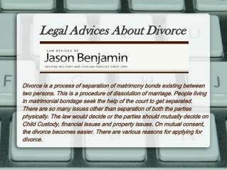 Legal Advices About Divorce