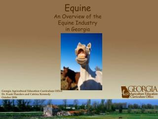 Equine  An Overview of the Equine Industry in Georgia