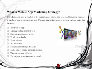 Successful Mobile App Marketing Strategy to target your Mobi