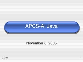 APCS-A: Java