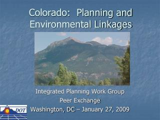 Colorado:  Planning and Environmental Linkages