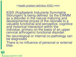 Health problem definition KISS (new)