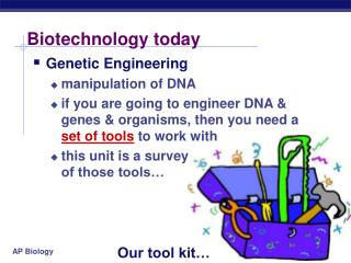 Biotechnology today