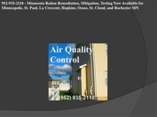952-935-2118 - Minnesota Radon Remediation