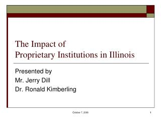The Impact of Proprietary Institutions in Illinois