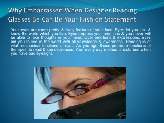 Why Embarrassed When Designer Reading Glasses Be Can Be Your
