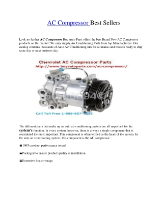 AC Compressor Best Sellers