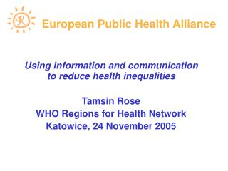 European Public Health Alliance