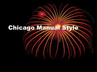Chicago Manual Style