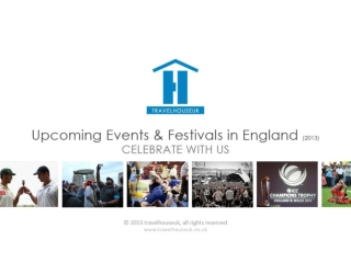 Upcoming Events and Festivals in England