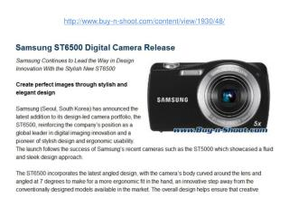 samsung st6500 digital camera release