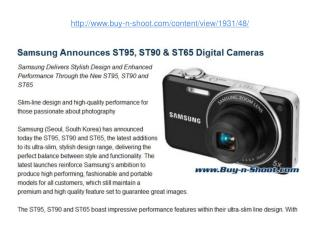 samsung announces st95, st90 & st65 digital cameras