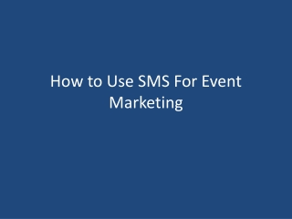 How to Use SMS for Event Marketing