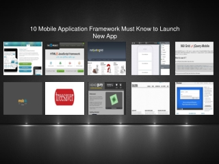 Top 10 Mobile Application Framework for Both Beginner & Expe