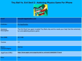 Tiny Ball Vs. Evil Devil 2 - Addicting Physics Game For iPho
